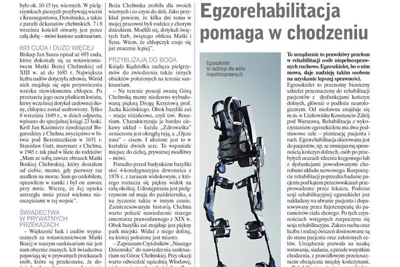 EGZOrehabilitacja pomaga w chodzeniu - nadzieja dla niepełnosprawnych
